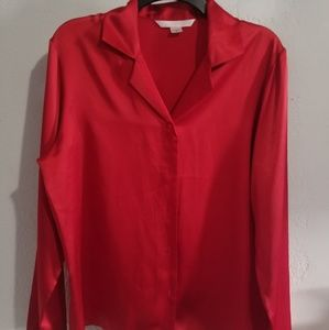 Victoria secret satin sleep top button down sz M